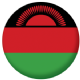 Malawi Country Flag 25mm Flat Back.